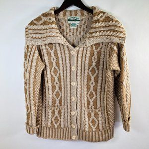 Aran Crafts Wool  Oversized Shawl Neck Cardigan